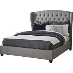Hillsdale Bromley Upholstered Bed in Orly Gray