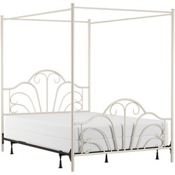 Hillsdale Dover Full Metal Bed in Cream
