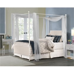 Hillsdale McArthur Panel King Canopy Bed in Oatmeal