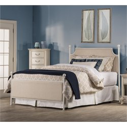 Hillsdale McArthur Upholstered Panel Bed in Oatmeal