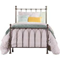 Hillsdale Molly Metal Panel Twin Bed in Black Steel