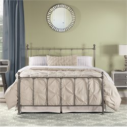 Hillsdale Molly Metal Panel Queen Bed in Black Steel