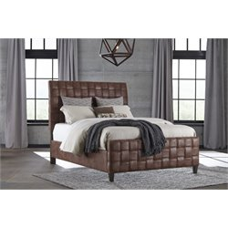 Hillsdale Riley Upholstered Bed in Light Brown