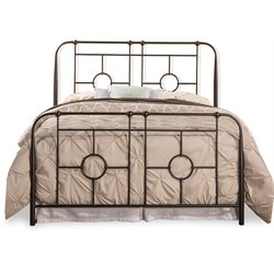 Hillsdale Trenton Metal Bed in Black Sparkle
