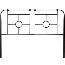 Hillsdale Trenton Metal Headboard in Black Sparkle