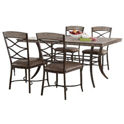 Hillsdale Emmons Piece Dining Set in Washed Gray