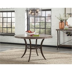 Hillsdale Emmons Round Dining Table in Washed Gray