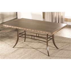 Hillsdale Emmons Dining Table in Washed Gray