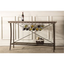 Hillsdale Emmons Wine Rack Server in Washed Gray