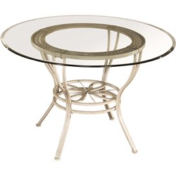 Hillsdale Napier Round Dining Table in Aged Ivory