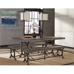 Hillsdale Paddock Dining Set in Brown-Gray