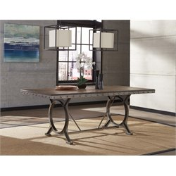 Hillsdale Paddock Dining Table in Brown Gray