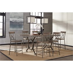 Hillsdale Paddock Counter Height Dining Set in Brown-Gray