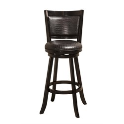 Hillsdale Brannon Swivel Stool in Black