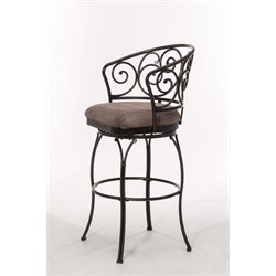 Hillsdale Carrington Swivel Stool in Black
