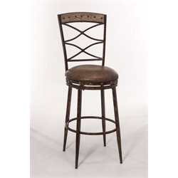 Hillsdale Emmons Swivel Stool in Brown