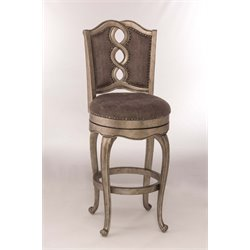 Hillsdale Lake Side Swivel Stool in Aged Silver
