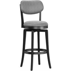 Hillsdale Sloan Swivel Stool in Black and Gray