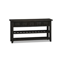 Hillsdale Tuscan Retreat 5 Drawer Wine Rack Hall Table in Gray