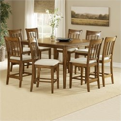 Hillsdale Bayberry Counter Height Oak Dining Set