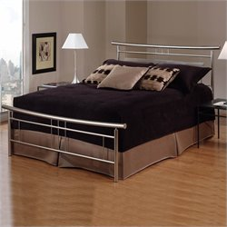 Hillsdale Soho Metal Bed in Brushed Nickel Finish