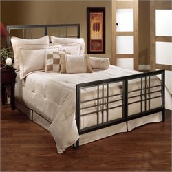 Hillsdale Tiburon Metal Bed in Magnesium Pewter Finish