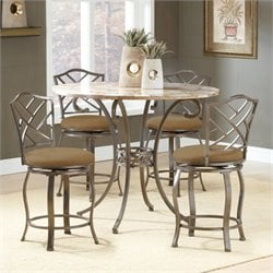 Hillsdale Brookside 5 Piece Counter Height Dining Table Set