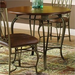Hillsdale Montello 36 Inch Round Casual Dining Table in Brown Finish