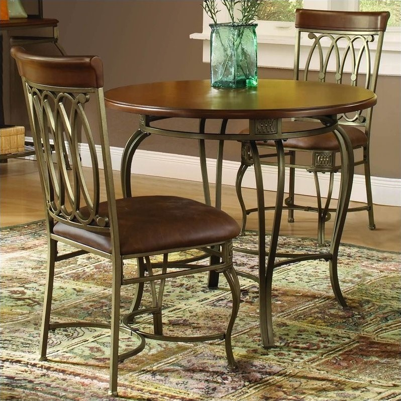 hillsdale montello 3 pc 36 quot round dining table set