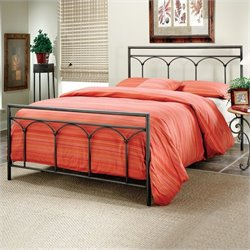 Hillsdale McKenzie Metal Panel Bed Brown Steel Finish