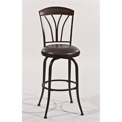 Hillsdale Marano Bar Stool in Bronze Pewter