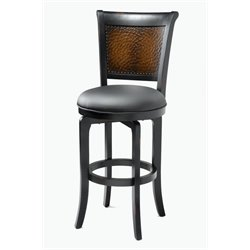 Hillsdale Salerno Swivel Counter Stool in Black