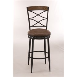 Hillsdale Zamora Swivel Bar Stool in Black