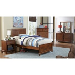 Hillsdale Bailey 5 Piece Panel Bedroom Set in Mission Oak