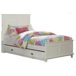 Hillsdale Bailey Twin Panel Bed with Trundle in White