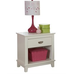 Hillsdale Bailey Nightstand in White