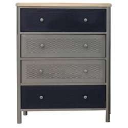 Hillsdale Brayden Youth Chest in Silver and Navy