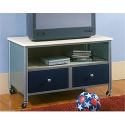 Hillsdale Brayden Youth TV Stand in Silver and Navy