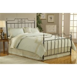 Hillsdale Amelia Metal Spindle Bed in Frosted Black