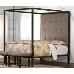 Hillsdale King's Way Upholstered Queen Canopy Panel Bed