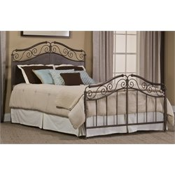 Hillsdale Ravella Upholstered Metal Spindle Bed with Rails