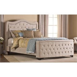 Hillsdale Trieste Upholstered Queen Storage Panel Bed with Rails