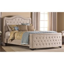 Hillsdale Trieste Upholstered King Storage Panel Bed with Rails