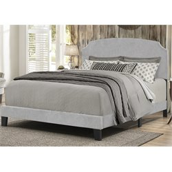 Hillsdale Desi Upholstered Panel Bed in Glacier Gray
