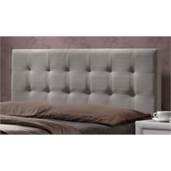 Hillsdale Duggan Upholstered Panel Headboard in Light Gray