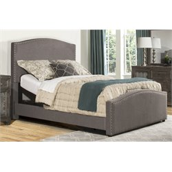 Hillsdale Kerstein Upholstered Adjustable Panel Bed with Rails