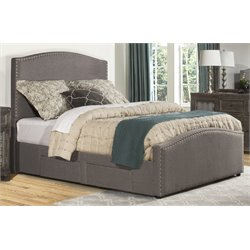 Hillsdale Kerstein Upholstered Storage Panel Bed with Rails