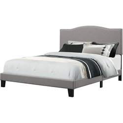 Hillsdale Kiley Upholstered Panel Bed in Glacier Gray