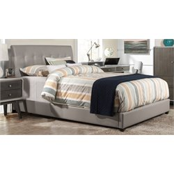 Hillsdale Lusso Faux Leather Upholstered Panel Bed with Rails