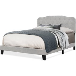 Hillsdale Nicole Upholstered Panel Bed in Glacier Gray